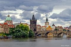 Prague - Charles Bridge (Darea62) Tags: prague charles bridge vltava river city town clouds tower czech architecture