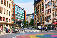 Frankfurt City (Cyclefan) Tags: frankfurt hessen germany deutschland city innenstadt centro kreisel fahrrder bicicleta bicycle