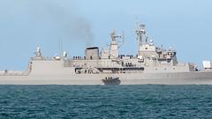 HMNZS TE MANA  - F111, Napier, Hawkes Bay, NZ - 30/8/16 (Grumpy Eye) Tags: nikkor 300mm 28 te mana f111 napier tender hmnzs naval frigate