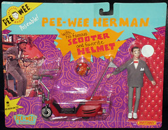 Pee-Wee's Playhouse - Pee-Wee Herman & Scooter w Helmet (1988) (WishItWas1984) Tags: toycollection collection collectible toy vintage retro 1980s 80s 1988 actionfigure peewee peeweeherman peeweesplayhouse pee wee playhouse scooter helmet matchbox