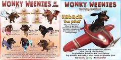 JIAN Wonkey Weenies (The Arcade September 2016) ([JIAN]) Tags: secondlife mesh pets dogs dog dachshund weenie wiener canine animal companion jian gacha