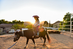 My cowgirl (ALCABRERA photograph) Tags: sunset outdoors horse kid nikon 2470mm orange cowgirl