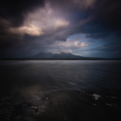 View on Rum (Willem Eelsing) Tags: eigg isleofeigg scotland smallisles rum uk cloud highlands laigbay