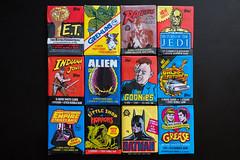 Wax Packs (_Codename_) Tags: rainbow cards vintage retro wax waxpacks batman et gemlins indianajones raidersofthelostark starwars returnofthejedi theempirestrikesback darthvader gizmo c3po backtothefuture delores alien goonies sloth littleshopofhorrors grease