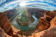 Horseshoe Bend (honzaf85) Tags: czphoto usa travel arizona coloradoriver river bend horseshoe sunset rocks holiday landscape canyon nikon nikkor fisheye