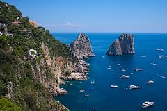Faraglioni (dado8891) Tags: color boat landscape sea capri fuji faraglioni july italia campania summer 2016 napoli