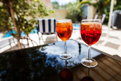 A study in Aperol and Campari Spritz's (catfordCelt) Tags: bandol fra frenchriviera mrs aperol campari cocktails france provencealpesctedazur fr