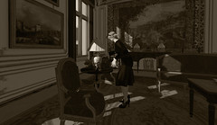 Quiet Moments - The Maid Cleans (Nazeem Resident) Tags: roleplay role rp play pictures playing project pixels berlin secondlife second shadow sl scenery life