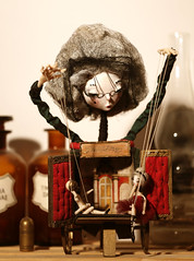 Fiokla (fantoche art dolls) Tags: fantoche oana micu art dolls papusi objects theatrical costumes doll stand scenography magical nostalgia