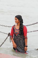 Haridwar..... Candid Moments (pallab seth) Tags: candid people india indian haridwar hardwar religion hindu hinduism samsungnx85mmf14edssalens samsungnx1 woman pilgrim pilgrimage harkipauri