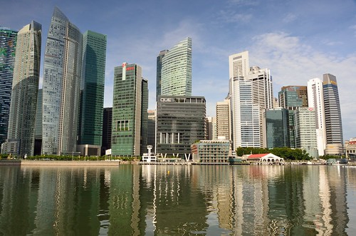 Skyline at Marina Bay