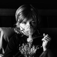 oh crap (jamie {74}) Tags: portrait bw square 50mm nikon nikkor nebulizer breathingtreatment d7000 bronchospasms