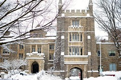 University Hall (City.and.Color) Tags: school winter white snow tree pine campus wolf university mcmasteruniversity mdcl