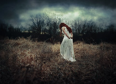 Bound and broken, she wandered. (Kindra Nikole) Tags: green broken girl field dark blood hands break tales menacing tie rope fairy bloody bound tale maiden twine wander wanderer grimm grimms