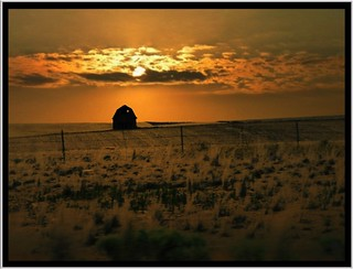 Washington State ~ Sunset ~ Old Barn ~ I ~ 90 HWY