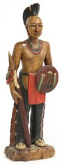 94. Carved and Painted Wood Native American Statue