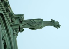 Basilica Gargoyle (Bill Dreit) Tags: green basilica nj gargoyle newark sacredheart