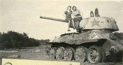 Tamed Beasts - T-34/76 model 1943 (Krueger Waffen) Tags: vintage war tank wwii 1940s armor ww2 armour armored waffenss tanks panzer secondworldwar afv worldwartwo armoredvehicle armoured armoredcar wehrmacht t34 pzkpfw secondworldwartanks worldwartwotanks tanksofthesecondworldwar