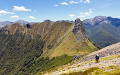 Lockett Range (3 photos) (NettyA) Tags: park newzealand canon rocks hiking rocky national bushwalking scree southisland range tramping lockett tramper tasmannz kahurangi eos550d