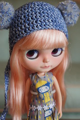 New Dress & Hat for Peanut! (blueboyblueboy) Tags: dress helmet blythe custom tiina puppilottchen photo4sue
