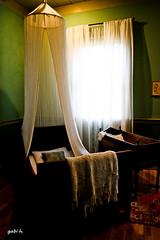 Dream a Little Dream (gabi-h) Tags: light baby laura window vintage bed bedroom louisiana mosquito afghan plantation crib curtains netting vacherie gabih