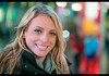 Erica (Stranger #13/100), NYC Times Square (flatworldsedge) Tags: street nyc red portrait newyork project square lights neon time bokeh strangers 5d erica 100 13 mkiii