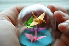 Origami Crane Globe (all things paper) Tags: globe origami papercrane origamicrane