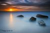 Merewether-LE (Kiall Frost) Tags: ocean longexposure blue red sky orange sun beach water clouds rocks surf australia le nsw merewether kiallfrost d800e