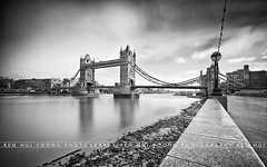 (rh89) Tags: city uk bridge england bw white black london tower english monochrome westminster thames river nikon long exposure angle riverside suspension symbol 10 hill wide sigma landmark icon grade structure stop filter 1020 iconic ultra listed density stops combined neutral d300 bascule 10mm i blackwhitephotos nd110