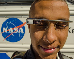 Closeup: Google glasses at #NASASocial b by Fifth World Art, on Flickr