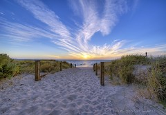 C (PhotoArt Images) Tags: sunset summer beach australia hdr footprintsinthesand nikon1424f28 jesuscmsfavoritesgallery photoartimages pathwaytotheocean
