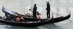 Same way (R. Huw Williams) Tags: venice italy canal grande seagull gondola gondolier