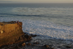 Los Amigos (Schelvism) Tags: ocean california sunset cliff sun west beach water evening waves pacific coastal geography geology landforms oceanography