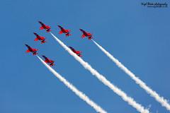 The Red Arrows at RAF Coningsby (Nigel Blake, 10 MILLION...Yay! Many thanks!) Tags: red photography team display hawk lincolnshire arrows blake bae nigel raf t1a coningsby theredarrows