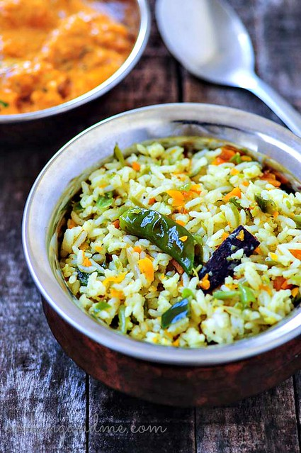 simple vegetable pulao-simple veg pulav