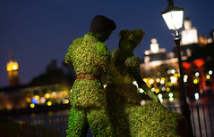 Epcot: Cinderella at the Flower & Garden Festival (Hamilton!) Tags: world vacation lake flower statue festival night zeiss garden prime bay epcot topiary florida bokeh sony tripod hamilton lagoon disney resort special event telephoto carl vista cinderella walt za showcase hdr gitzo slt 135mm buena a99 sonnart18135 pytluk