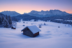 Frozen Dawn (mibreit) Tags: winter snow cold germany landscape frost karwendel gerold geroldsee