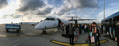 "Boarding ""Augsburg Airways"" Bombardier Dash 8 Q400 in Budapest (emilstefanov) Tags: panorama airport pano budapest dash bud iq lufthansa turboprop bombardier ferihegy q400 dh4 augsburgairways"