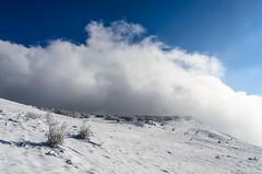 Nanos slopes, Bora clouds (Orso Grisbi) Tags: snow clouds nuvole slovenia neve slovenija bora nanos