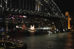 Luna Park & Sydney Harbour Bridge (oxfordblues84) Tags: bridge night evening exterior au sydney australia nsw newsouthwales lunapark sydneyharbour sydneyharbourbridge thecoathanger sydneyquay