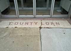 OH Ashtabula - County Loan (scottamus) Tags: old ohio vintage tile floor entrance storefront entry terrazzo ashtabula ashtabulacounty countyloan