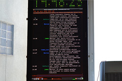 Irc chat on the wall through Raspberry Pi