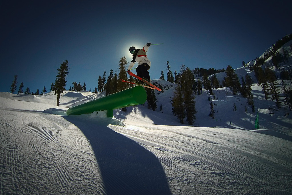 Charlie Ingalls shredding the mile-long terrain park
