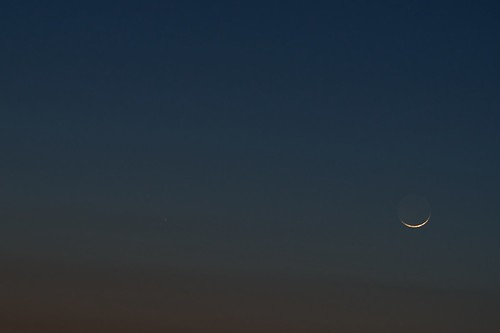 Comet PANSTARRS and new crescent moon