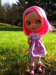 """IMG_2144...""""Did you know that when the wind blow through pink hair it smells like strawberries?'"""