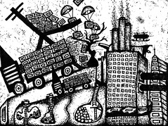 Ink on paper chktrk - Marc Rodriguez (Marc Rodriguez Artwork) Tags: new food art chicken ink truck paper underground grid artwork media artist factory chaos feeding knoxville drawing top tennessee secret surveillance fear systems where cnn pollution clones government detritus unreal tunnels fau built grids rodriguez mentalhealth artworks global masses factories corporations empires sideeffects mentalillness monolithic psychosis inkonpaper braincontrol marcrodriguez manufacturedgoods malformedbeing chichentruck massproducedfood
