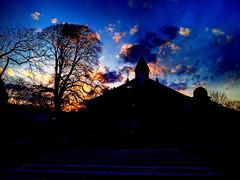 Sunset, Ocean Grove, NJ (markchevy) Tags: blue sunset red orange building architecture night clouds landscape religious photo newjersey interesting colorful pix purple graphic nj picture scene architectural vista pictorial oceangrove greatauditorium oceanpathway colorsinourworld markchevy johnspilatro