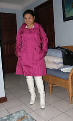 Patagonia Jacket (johnerly03) Tags: above white fashion hair asian high long boots philippines heels hood filipina knee raincoat rainwear patent erly