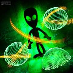 Planetary Intergalactic [Explored] (Behind Closed Doors Urbex) Tags: shadow lightpainting green silhouette night circle glow projector space alien orb dome leds gobo intergalactic strobe projected lightpainter swoosh andyk saturnrings lightartist wwwlightpaintcom