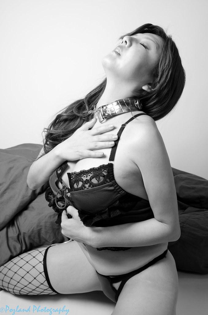 Kiyomi (Pozland) Tags: bw woman sexy girl japan pose studio japanese tokyo  blackwhite